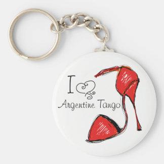 Ik houd van de Argentijnse Zeer belangrijke Keten Sleutelhanger
