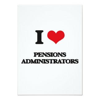 Ik houd van de Beheerders van Pensioenen 12,7x17,8 Uitnodiging Kaart