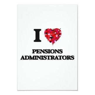 Ik houd van de Beheerders van Pensioenen 8,9x12,7 Uitnodiging Kaart