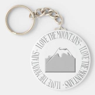 Ik houd van de bergen sleutelhanger