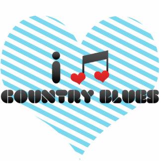 Ik houd van de Blauw van het Land Acryl Uitsneden