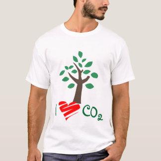 Ik houd van de de kooldioxideboom van Co2 het T Shirt