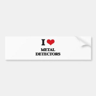 Ik houd van de Detectors van het Metaal Bumpersticker