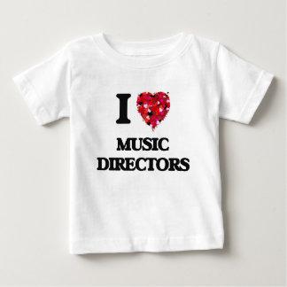 Ik houd van de Directeuren van de Muziek Baby T Shirts