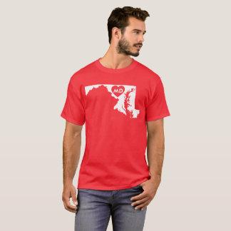 Ik houd van de Donkere T-shirt van het Mannen van