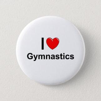 Ik houd van de Gymnastiek van het Hart Ronde Button 5,7 Cm