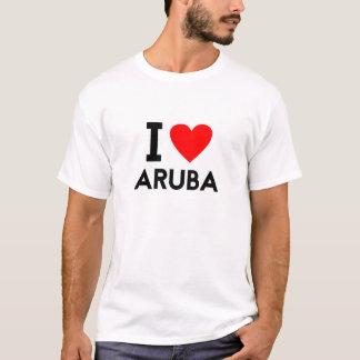 ik houd van de het landnatie van Aruba van de T Shirt