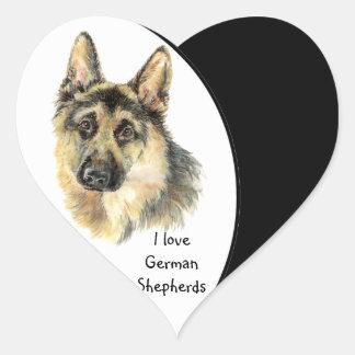 Ik houd van de Hond van de Duitse herder, Huisdier Hart Sticker