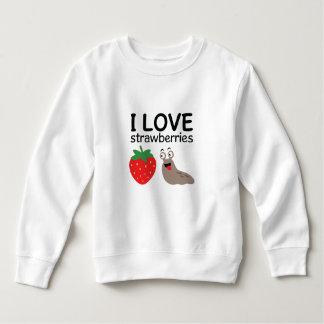 Ik houd van de Illustratie van Aardbeien Kinder Fleece