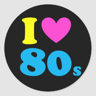 Ik houd van de jaren '80 ronde sticker