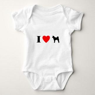 Ik houd van de Klimplant van het Baby Akitas T-shirts