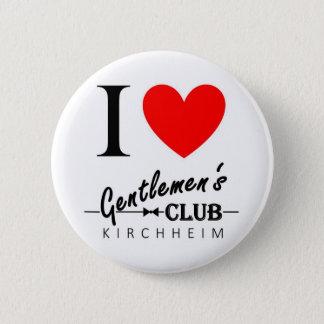 """Ik houd van de Knoop """"Kirchheim """" van de Club van Ronde Button 5,7 Cm"""
