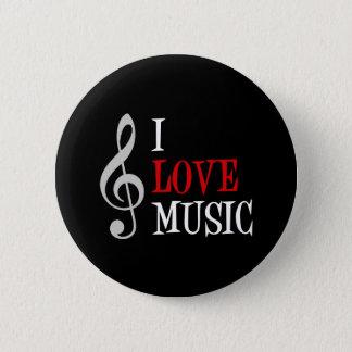 Ik houd van de Knoop van de Muziek Ronde Button 5,7 Cm