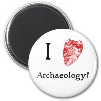 Ik houd van de Koelkast Magent van de Archeologie Magneet