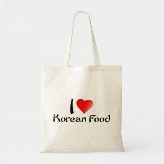 Ik houd van de Koreaanse Zak van het Voedsel Draagtas