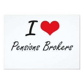 Ik houd van de Makelaars van Pensioenen 12,7x17,8 Uitnodiging Kaart