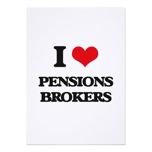 Ik houd van de Makelaars van Pensioenen Custom Uitnodging