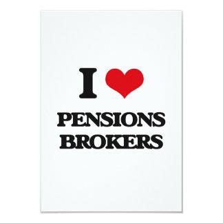 Ik houd van de Makelaars van Pensioenen 8,9x12,7 Uitnodiging Kaart