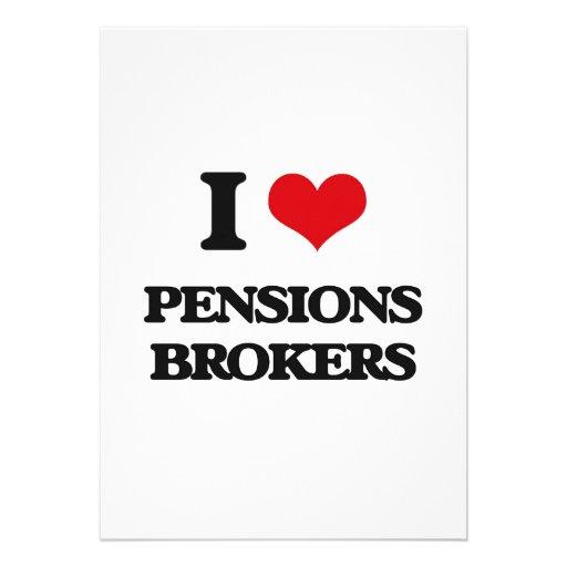 Ik houd van de Makelaars van Pensioenen Gepersonaliseerde Uitnodigingen