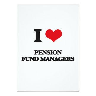 Ik houd van de Managers van het Fonds van het 12,7x17,8 Uitnodiging Kaart
