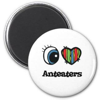 Ik houd van de Miereneters (van het Hart) Magneten