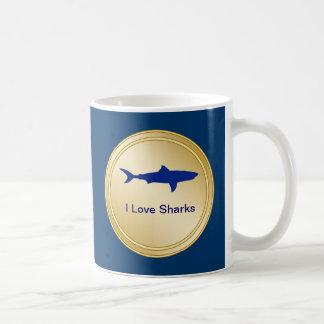 Ik houd van de Mok van de Drank van Haaien