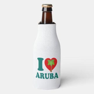Ik houd van de Palm van Aruba Flesjeskoeler