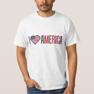 Ik houd van de Patriottische T-shirt van Amerika