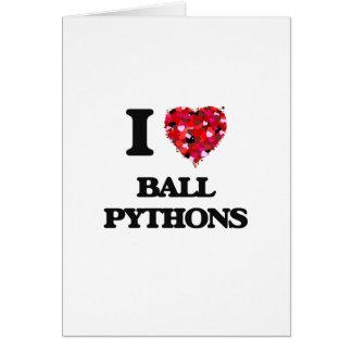 Ik houd van de Pythonnen van de Bal Kaart