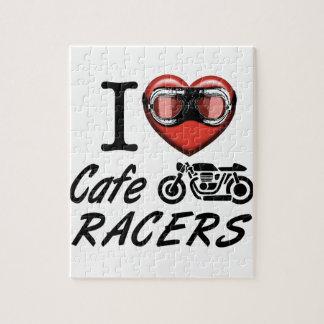 Ik houd van de Raceauto's van de Koffie Foto Puzzels