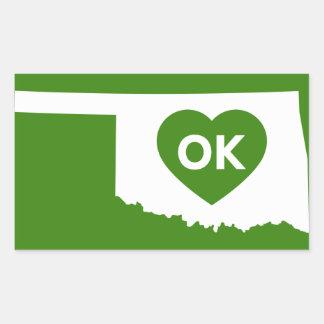 Ik houd van de Staat Stikers van Oklahoma Rechthoekige Sticker