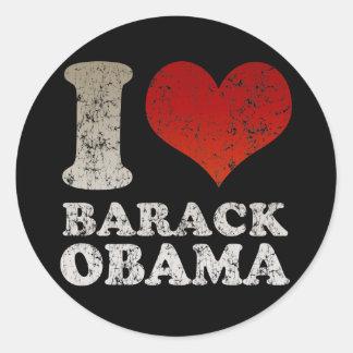 Ik houd van de sticker van Barack Obama