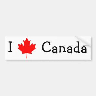 Ik houd van de Sticker van de Bumper van Canada