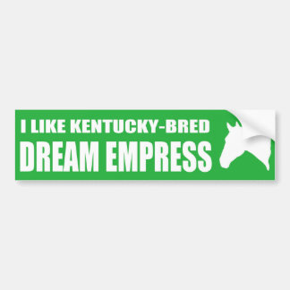 Ik houd van de Sticker van de Bumper van de Keizer