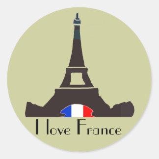 Ik houd van de Sticker van Frankrijk