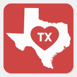 Ik houd van de Stickers van de Staat van Texas