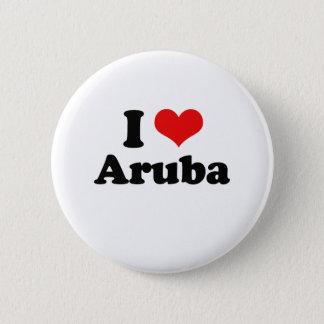 Ik houd van de T-shirt van Aruba Ronde Button 5,7 Cm