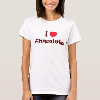 Ik houd van de T-shirt van de Chocolade