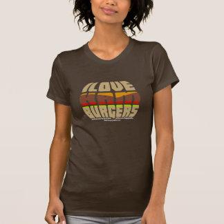 Ik houd van de T-shirt van de Dames van Hamburgers