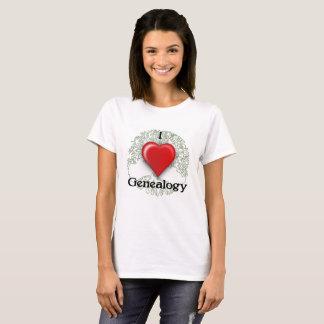 Ik houd van de T-shirt van de Douane van de