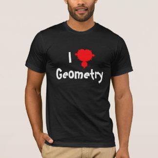 Ik houd van de T-shirt van de Meetkunde