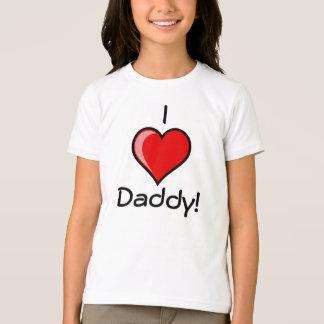 Ik houd van de t-shirt van de Papa