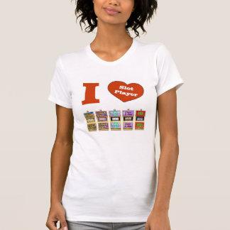 Ik HOUD van de T-shirt van de Speler van de Groef