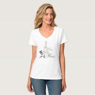 Ik houd van de T-shirt van de Vrouwen van Parijs