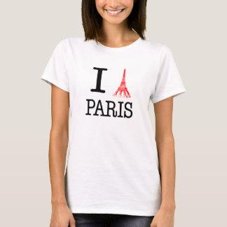 Ik houd van de T-shirt van Parijs