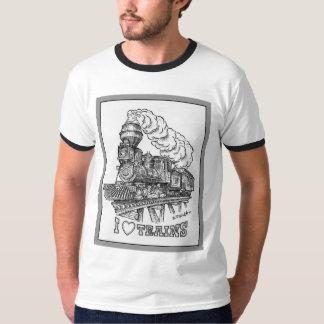 Ik houd van de T-shirt van Treinen