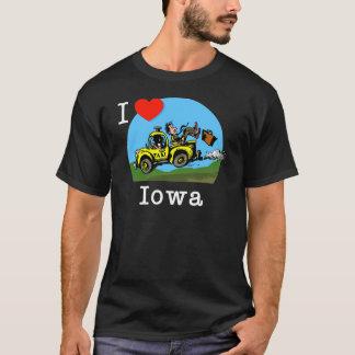 Ik houd van de Taxi van het Land van Iowa T Shirt