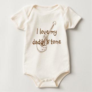 Ik houd van de toon van mijn papa baby shirt