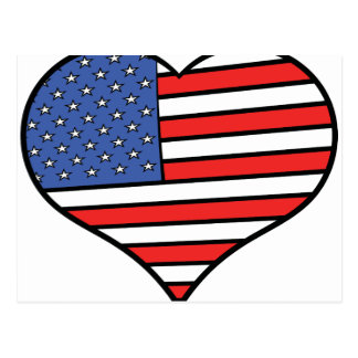 Ik houd van de trots van Amerika - van de Briefkaart