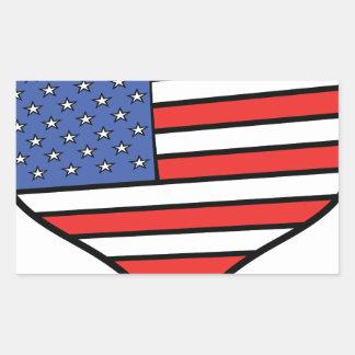 Ik houd van de trots van Amerika - van de Rechthoekige Sticker